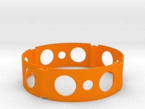 Mini Wheel Spacer 16mm in Orange Processed Versatile Plastic