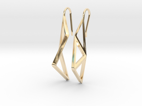 sWINGS Structura Earrings in 14K Yellow Gold