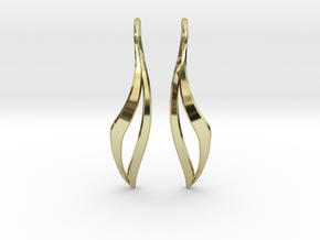 sWINGS Sharp Earrings in 18k Gold Plated Brass