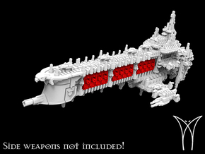 Victorius class Battleship MK I Hull in White Natural Versatile Plastic