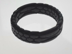 Giant's Ring (6mm, vertical pattern) in Polished and Bronzed Black Steel: 8.75 / 58.375