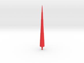 Steel Jeeg Lance Missile in Red Processed Versatile Plastic