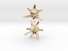 Sea Star Earrings in 14K Yellow Gold