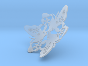 Butterfly Bowl 1 - d=10cm in Smooth Fine Detail Plastic