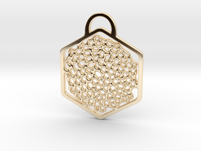 """""""O! My Honey(comb)"""". Pendant in 14k Gold Plated Brass"""