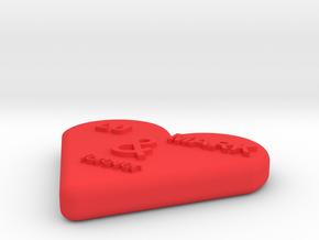 LU&MARK in Red Processed Versatile Plastic