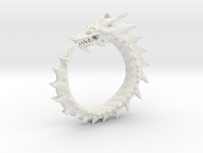 Dragon Amulet Complex in White Natural Versatile Plastic