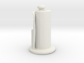 Paper Towel Holder in White Natural Versatile Plastic