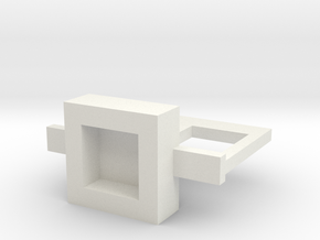 Square Hole Belt for Minifigures in White Natural Versatile Plastic