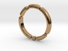 Balloon Ring in Polished Brass