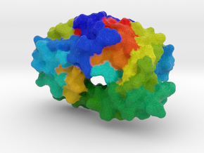 HIV Protease in Full Color Sandstone