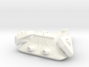 Robotic Destroyer in White Processed Versatile Plastic