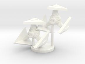 Robotic Fighter in White Processed Versatile Plastic