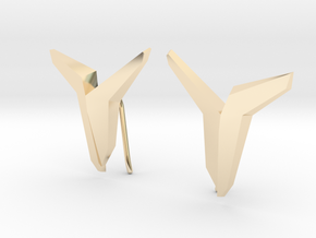 YOUNIVERSAL Asymetric  Earrings in 14K Yellow Gold