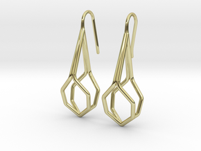 A-Line Honey Earrings in 18k Gold Plated Brass