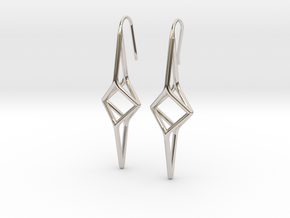 YOUNIVERSAL Y2 Earrings. Pure Elegance. in Rhodium Plated Brass