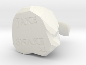 Jake the Snake in White Natural Versatile Plastic