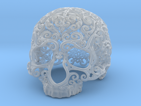 Intricate Filigree Skull 5cm in Smooth Fine Detail Plastic