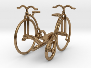 Vintage Bicycle Cufflinks in Natural Brass
