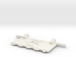 Emperor's Finest God-Hammer Tank front hatch in White Natural Versatile Plastic