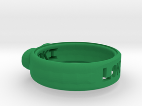 Ring for Loki in Green Processed Versatile Plastic