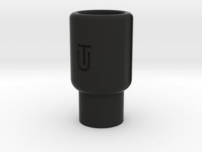 Airsoft Muzzle Amplifier (14mm Self-Cutting Thread in Black Premium Versatile Plastic