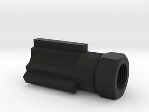 Insanity Airsoft Flash Suppressor (14mm-) in Black Premium Versatile Plastic