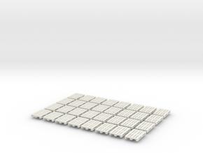 1/43 0 gauge 32 x Europalette Euro pallet EPAL in White Natural Versatile Plastic