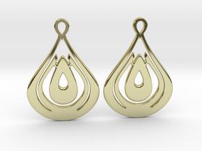 Drops Earrings in 18k Gold Plated Brass
