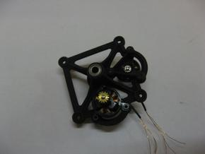 F3P Dual motor contra - Main gearbox frame in Black Strong & Flexible