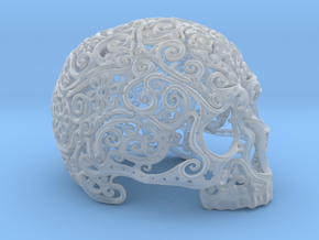 Intricate Filigree Skull 15cm in Smooth Fine Detail Plastic