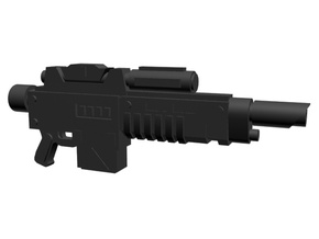 Charged laser gun 28mm x40 in Smoothest Fine Detail Plastic