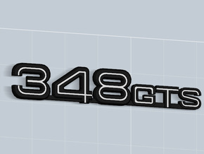 348GTS BADGE in Matte Black Steel