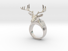 Ring Deer in Platinum