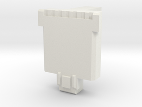 PotP Fist-Plate - Customizable in White Natural Versatile Plastic