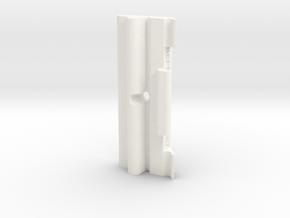 Lancia Delta 1 Batteriehalter Battery bracket in White Processed Versatile Plastic