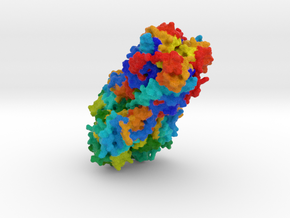 Hemagglutinin Influenza B Virus in Full Color Sandstone