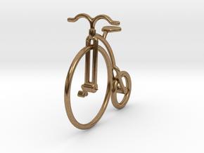 Vintage Bicycle Jewel in Natural Brass