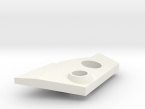 VF-25 Modified Left Shoulder Plate in White Natural Versatile Plastic