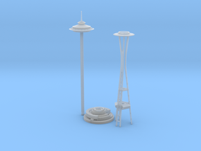 Seattle Space Needle (1:2000) in Smooth Fine Detail Plastic
