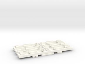 N Gauge D78 Underground Kit 3 Car floors only in White Processed Versatile Plastic