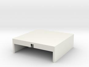 Small Hanger with door in White Natural Versatile Plastic: 1:400