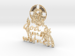 God Is My Witness Pendant in 14K Yellow Gold