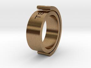 Mon: Fidget Ring in Natural Brass (Interlocking Parts)