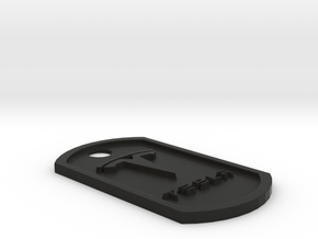 Tesla Themed Dog Tag in Black Premium Strong & Flexible