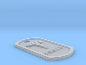 Tesla Themed Dog Tag in Smooth Fine Detail Plastic