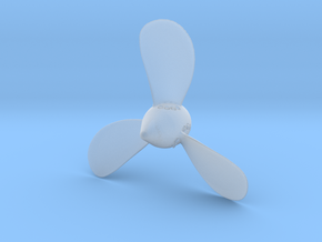 Titanic Starboard 3 Bladed Propeller  Scale 1:150 in Smooth Fine Detail Plastic
