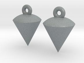 Plumb / Lot Earrings in Polished Metallic Plastic