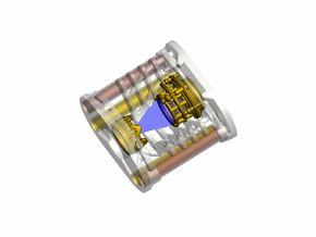 Katana oval hilt - Crystal Chamber Part2 in White Natural Versatile Plastic