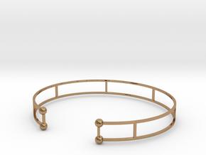 Double Bracelet ( Jonc ) in Polished Brass